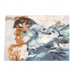 Комплект рисуване по номера 40x50 см - Женственност Ms7493
