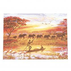 Комплект рисуване по номера 40x50 см - Африка Ms8950
