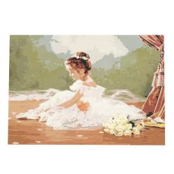 Комплект рисуване по номера 40x50 см - Малка шаферка Ms9035
