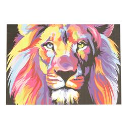 Комплект рисуване по номера 40x50 см - Лъв дъга Ms9231