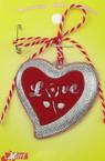 Martisor inimă cauciuc 10 bucăți