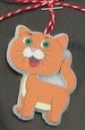 Pisicuță Martisor din pâslă și lemn 10 bucăți