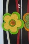Βραχιόλι, μαρτάκι με φελτ λουλούδι - 10 τεμάχια