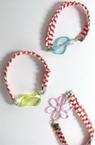 Brățară elastică Martisor cu figura colorată 10 bucăți