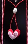 Colier Martisor cu inimă 10 bucăți