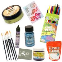 Art Supplies Artist Materials Paints Markers Brushes 3D Waxes Gels