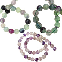 Fluorite Gemstone Bead Strands, DIY Necklaces, Beacelets