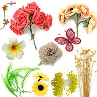 Flowers and Stamens for Party, Wedding, Craft, DIY, Decoration