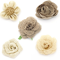 Natural Burlap & Jute Flowers for Decoration, Clothes, Home Decor, Craft, Clothes, Sewing