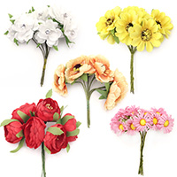 Artificial Flower Bouquets for Home Decorations, DIY, Craft, Wedding, Party Decors
