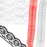 Lace Border Ribbons for Decoration, Clothes, Wedding Party, Craft