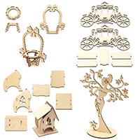 Дървени фигурки за сглобяване