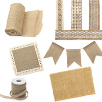 Burlap & Jute Ribbons with Laces for Wedding Party Home Decorations, DIY Craft, Handmade