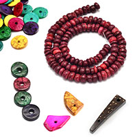 Coconut Beads Wooden Natural Jewelry Making
