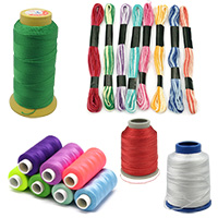 Cotton & Polyester Threads for Embroidery, Jewelry Making, Decoration, Art Projects