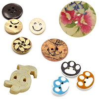 Wooden buttons for Clothing Sewing Jewelry Making Scrapbooking