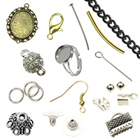 Metal accessories and parts for jewelery