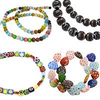 Γυάλινες χάντρες και κρεμαστά Murano, Millefiori, ματάκια και μάτι της γάτας
