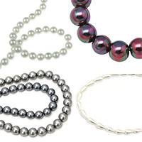 Стъклени нанизи имитация перли