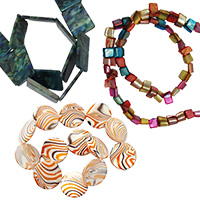 Mother of Pearl Bead Strands for Jewelry Making, Craft, DIY Necklaces, Bracelets, Earrings