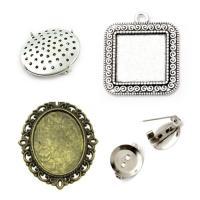 Основи за брошки и медальони