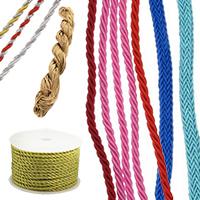 Полиестерни шнурове за бижута и плетене