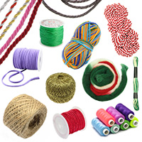 Cords, Yarns & Threads for Jewelry making, DIY, Knitting, Decorations