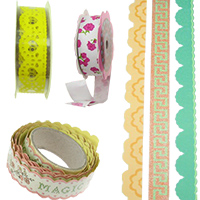 Adhesive Washi Tape, Arts & Craft Tapes for Decoration, DIY, Gift Wrapping, Scrapbooking, Kids Tape