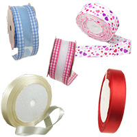 Colorful Fabric Satin Ribbons for Decorating, Gift Wrapping, Flowers, DIY, Scrapbooking, Art, Craft