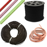 Leather & Suede Cord for jewelry making, Bracelets, Necklaces, Decorations