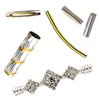 Metal Tube Beads for Jewelry Making