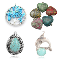 Turquoise Pendants for Jewellery Making, Necklaces, Gifts
