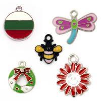 Metal pendants colored